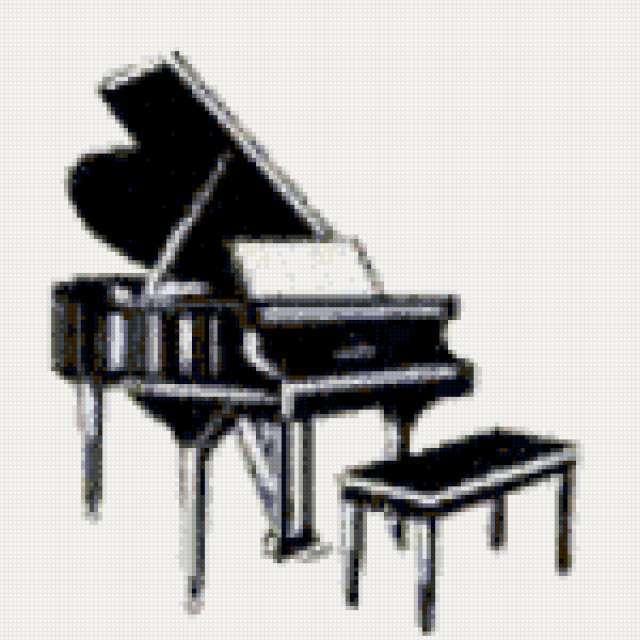 Черный рояль, музыка, рояль,