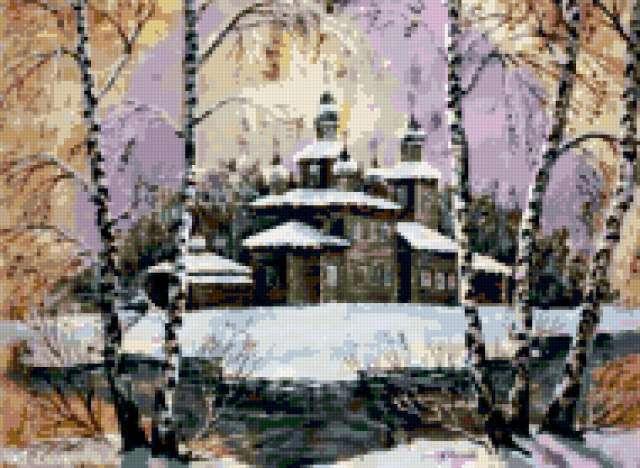 Россия Храм на острове,