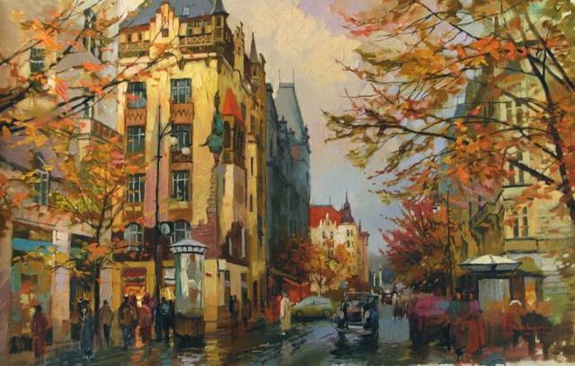 Осень в городе, город,