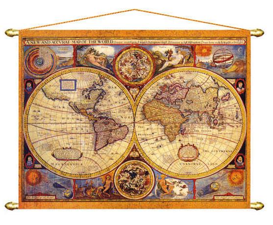 Старинная карта мира, оригинал