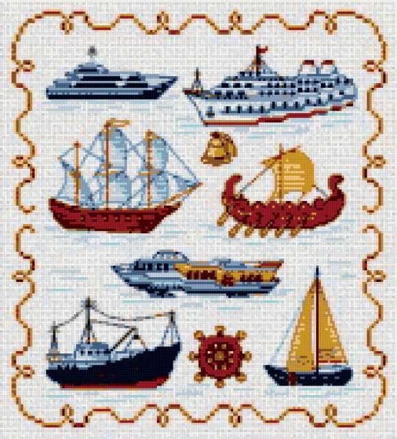 Корабли и шхуны, предпросмотр