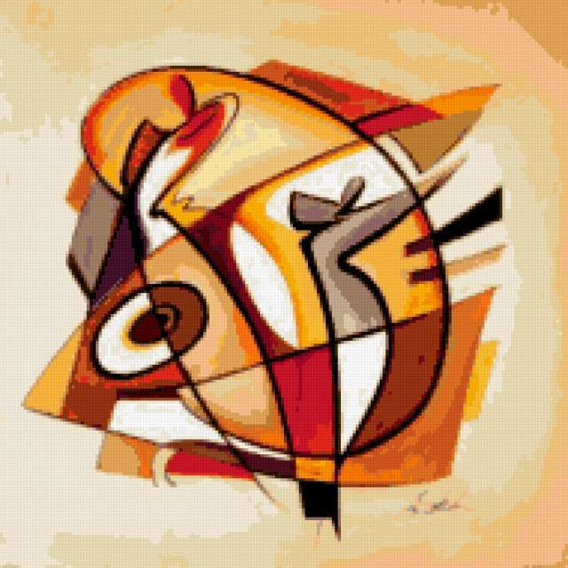 Подушка-абстракция танец