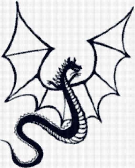 Дракон, монохром