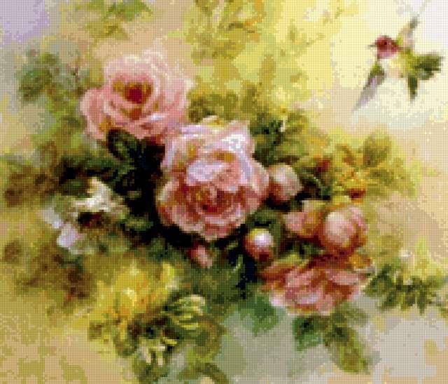 Розы и Колибри, предпросмотр