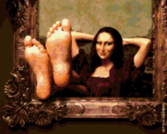 Мона Лиза отдыхает )),