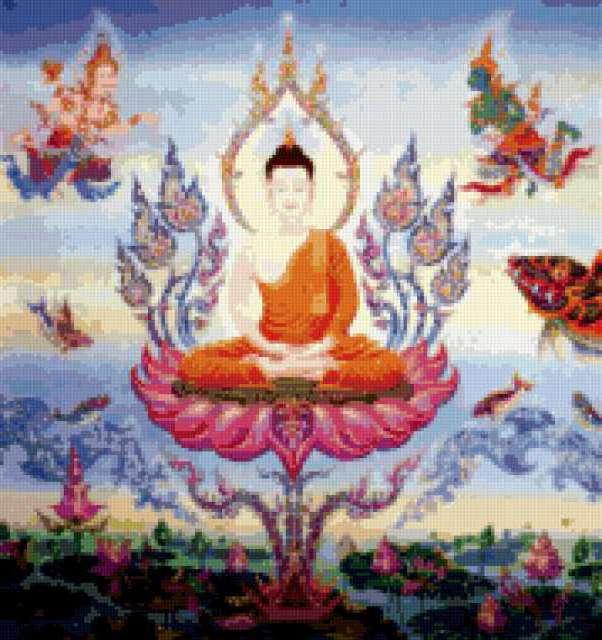 Схемы для вышивки крестом будда