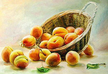 Персики, персики, фрукты