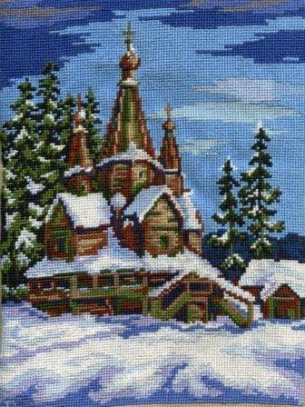 Вышивка крестом зимний пейзаж иконы бисером схемы и наборы для.