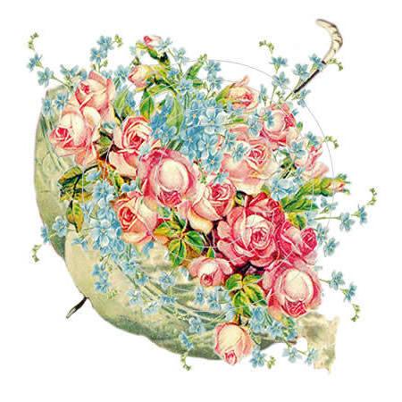 Вышивка крестом зонтик с цветами схемы 11