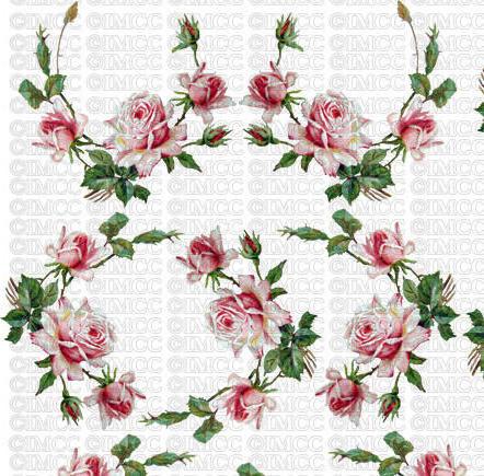 Орнамент из роз, цветок, роза