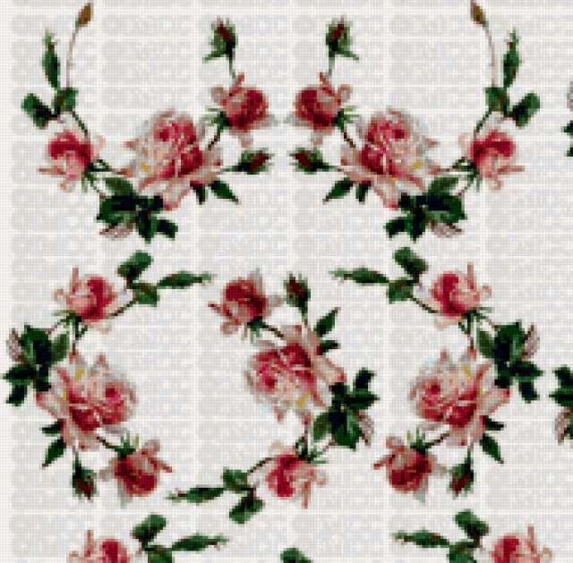 Орнамент из роз, предпросмотр