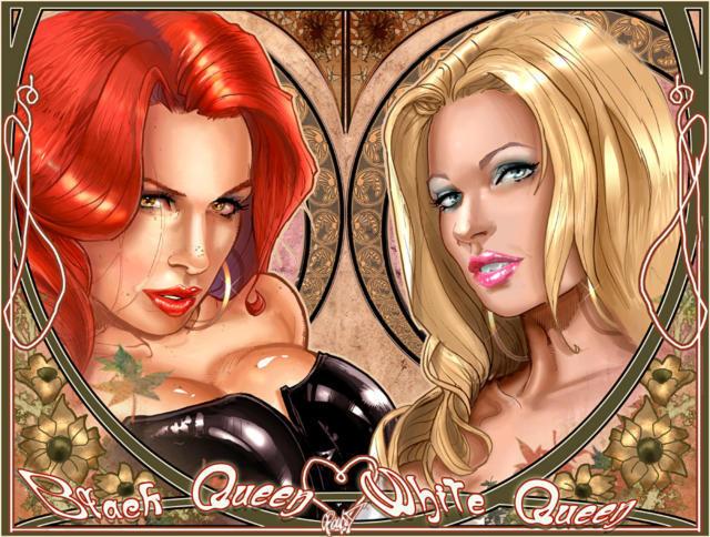 Черная и белая королева,