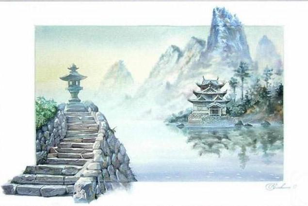 Пагода, пейзаж .природа