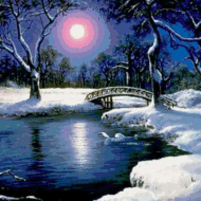 Зимняя ночь, предпросмотр