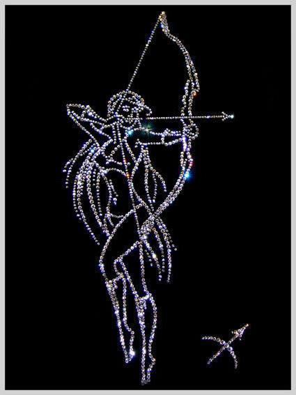 Вышивка схемы стрельца
