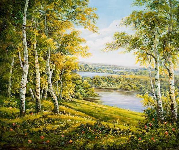 Летний пейзаж, пейзаж, природа