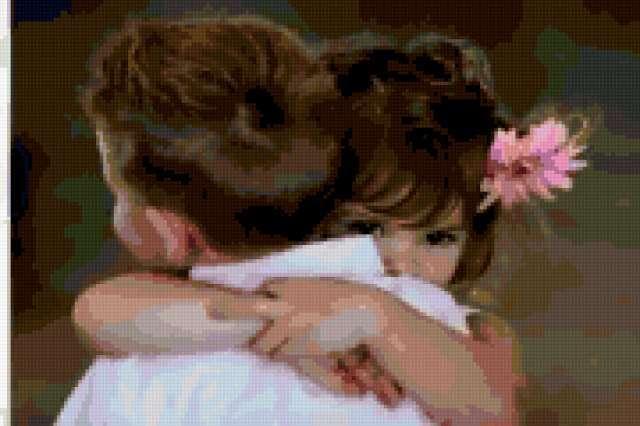 мальчик обнимает девочку 4,