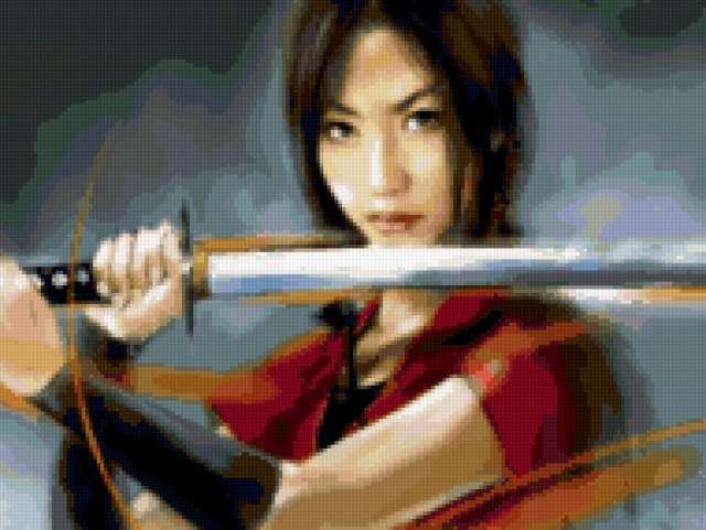 Девушка-самурай, предпросмотр