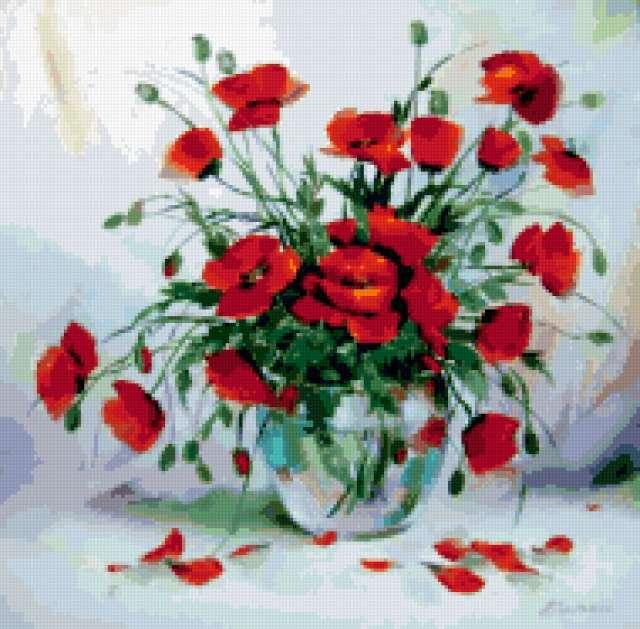 картина, природа, цветы