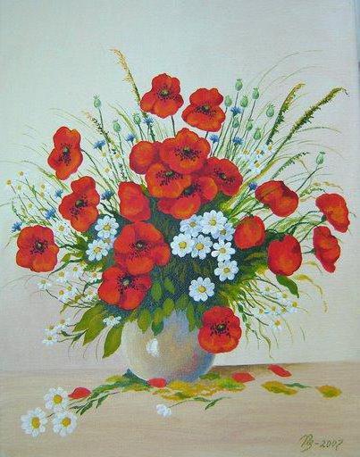Маки полевые цветы луговые цветы