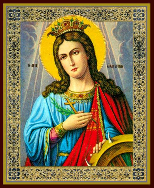 Св. Екатерина, икона, святые,