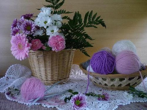 К схеме вышивки «Цветы и