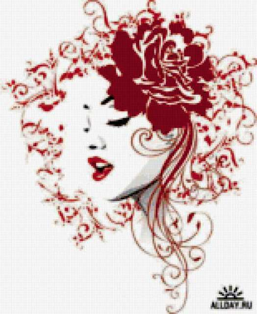 Лицо розы, девушка, красивая,
