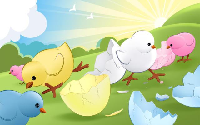 Пасхальные цыплята, оригинал