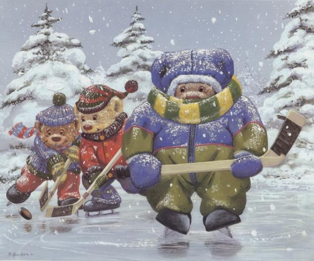 Медвежий хоккей, медвежата