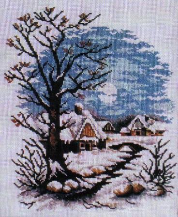 Зима в деревне, природа,