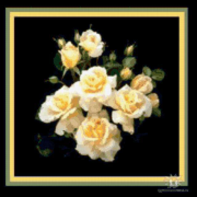 Розы на черной канве,