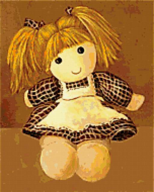 Подушка-кукла, предпросмотр