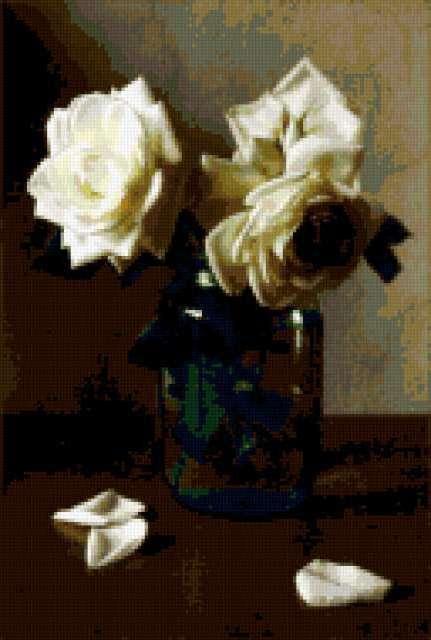 Розы в банке, предпросмотр