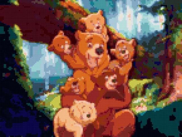Семья медведей, предпросмотр