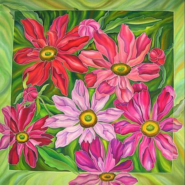 Подушка. Цветочный ковёр