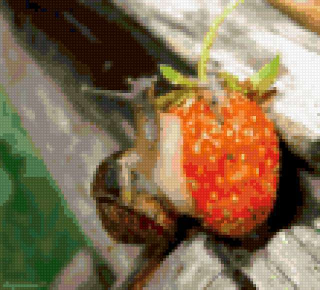 Улитка ест ягоду, предпросмотр