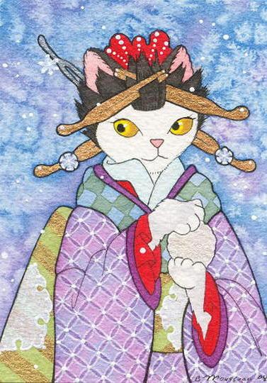 Кошка японка, оригинал