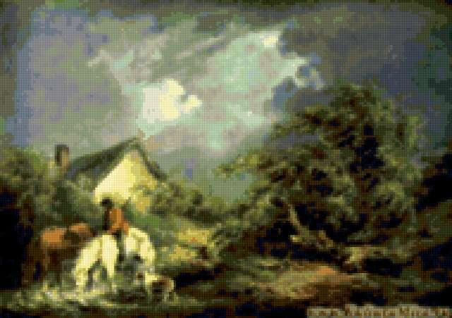 Приближение грозы, картина
