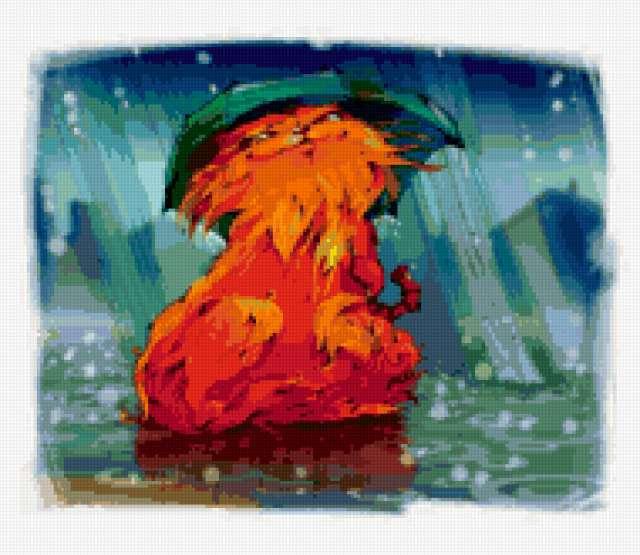 Рыжий кот , предпросмотр