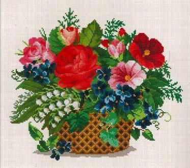 корзина, натюрморт, цветы,