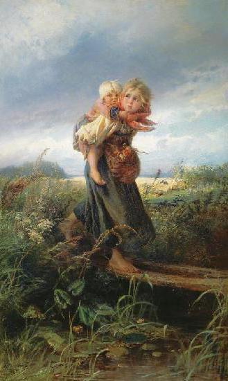 Дети, бегущие от грозы,1872 г,