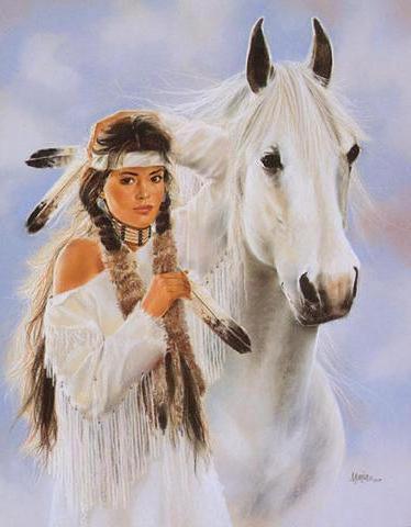 Белая лошадь, оригинал