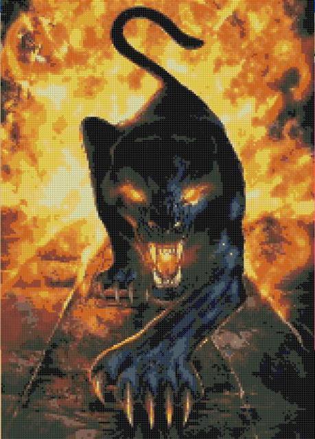 Пантера в огне, оригинал