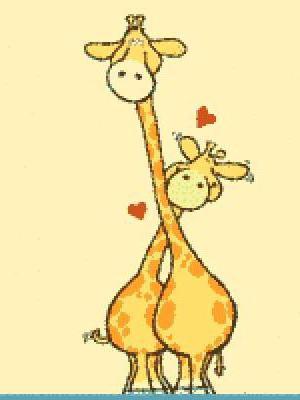 Влюблённые жирафы, оригинал