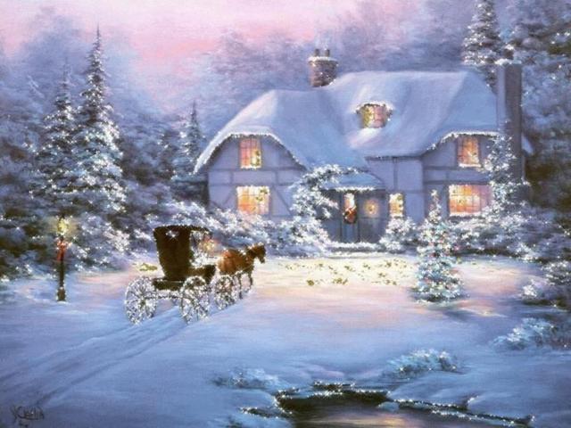 Зимняя сказка, живопись