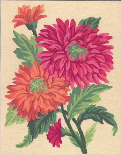 Схемы вышивок крестом цветы хризантемы