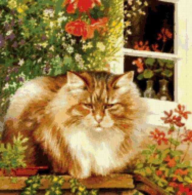 Задумчивый кот, предпросмотр