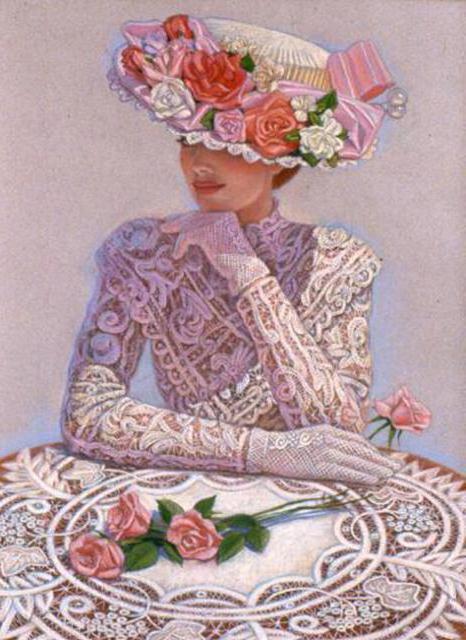 К схеме вышивки «Викторианская
