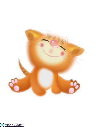 Рыжий котенок, звери, забавные
