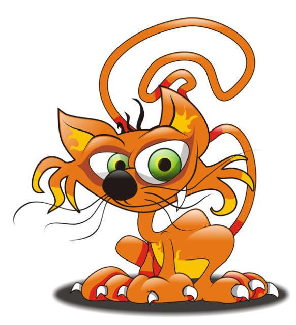 Рыжий кот, звери, забавные,